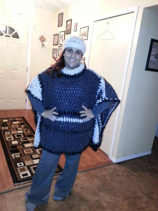 Pullover sweater and hat