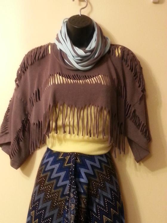 lisi designs fringe t shirt