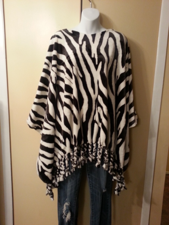 Soft and warm plush fleece poncho