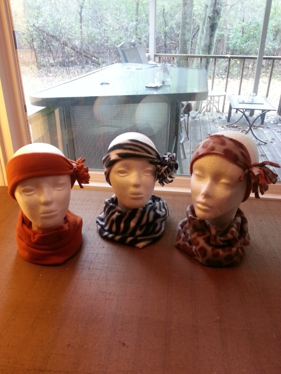 Head wraps with matching neck warmers